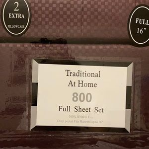 Traditional At Home 6pc Full Sheet Set Purple plum